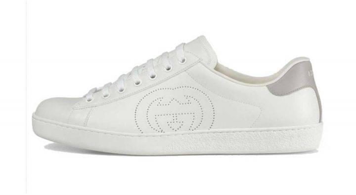 古驰 GUCCI Ace系列 互扣式G 运动鞋 白 599147 AYO70 9094缩略图