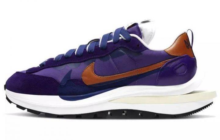 """Sacai x Nike VaporWaffle """"Dark Iris"""" 紫金 男女同款 DD1875-500-"""