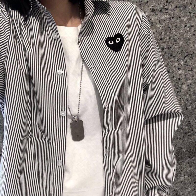 (长青款)川久保玲play条纹衬衫缩略图