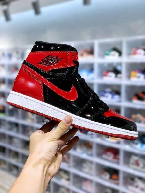 篮球鞋, 球鞋, Bred Patent, AJ1, Air Jordan 1 High OG, Air Jordan 1 High, Air Jordan 1, 555088-063