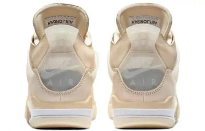 """乔丹 Off-White x Air Jordan 4 """"Sail"""" 白帆 CV9388-100-"""